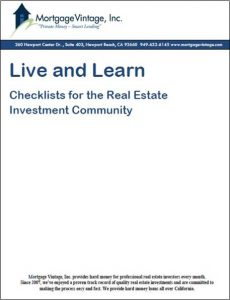 checklist for real estate investment